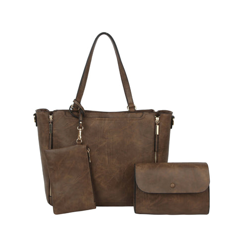 Chelsea 3 in 1 Large Tote Handbag Coffee