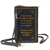 Moby Dick or the Whale By: Herman Melville Book Clutch & Cross-body Purse