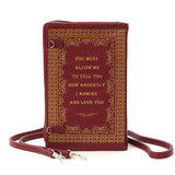 Pride And Prejudice By: Jane Austen Book Clutch & Cross-body Purse
