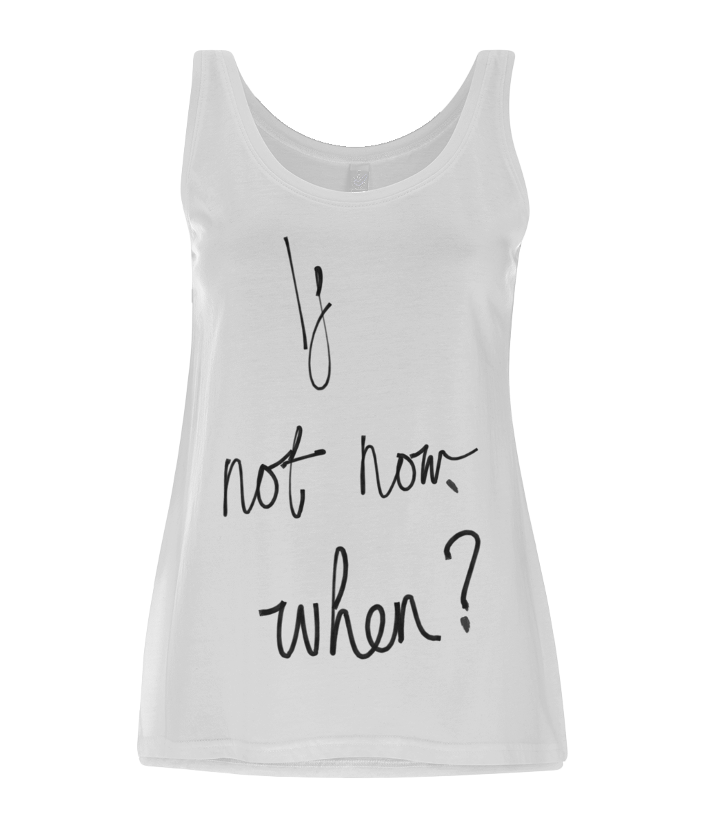 If Not Now When Print Women's Vest - MOTIVATEE