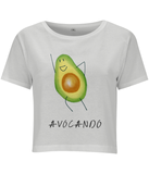 Avocando Womens Cropped Tee