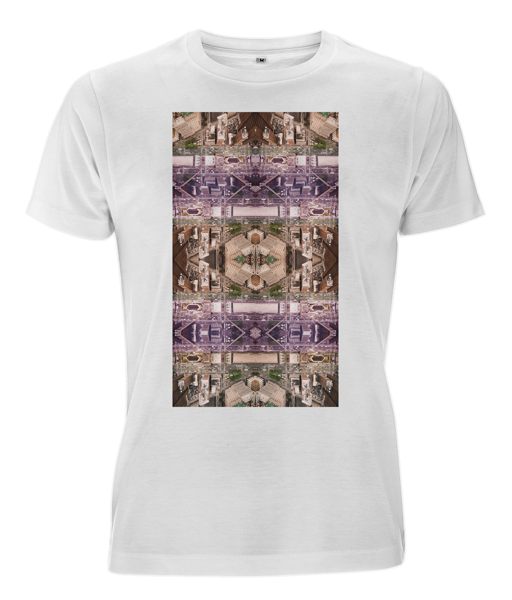Perspective Drone Print Recycled Polyester Classic Tee - MOTIVATEE