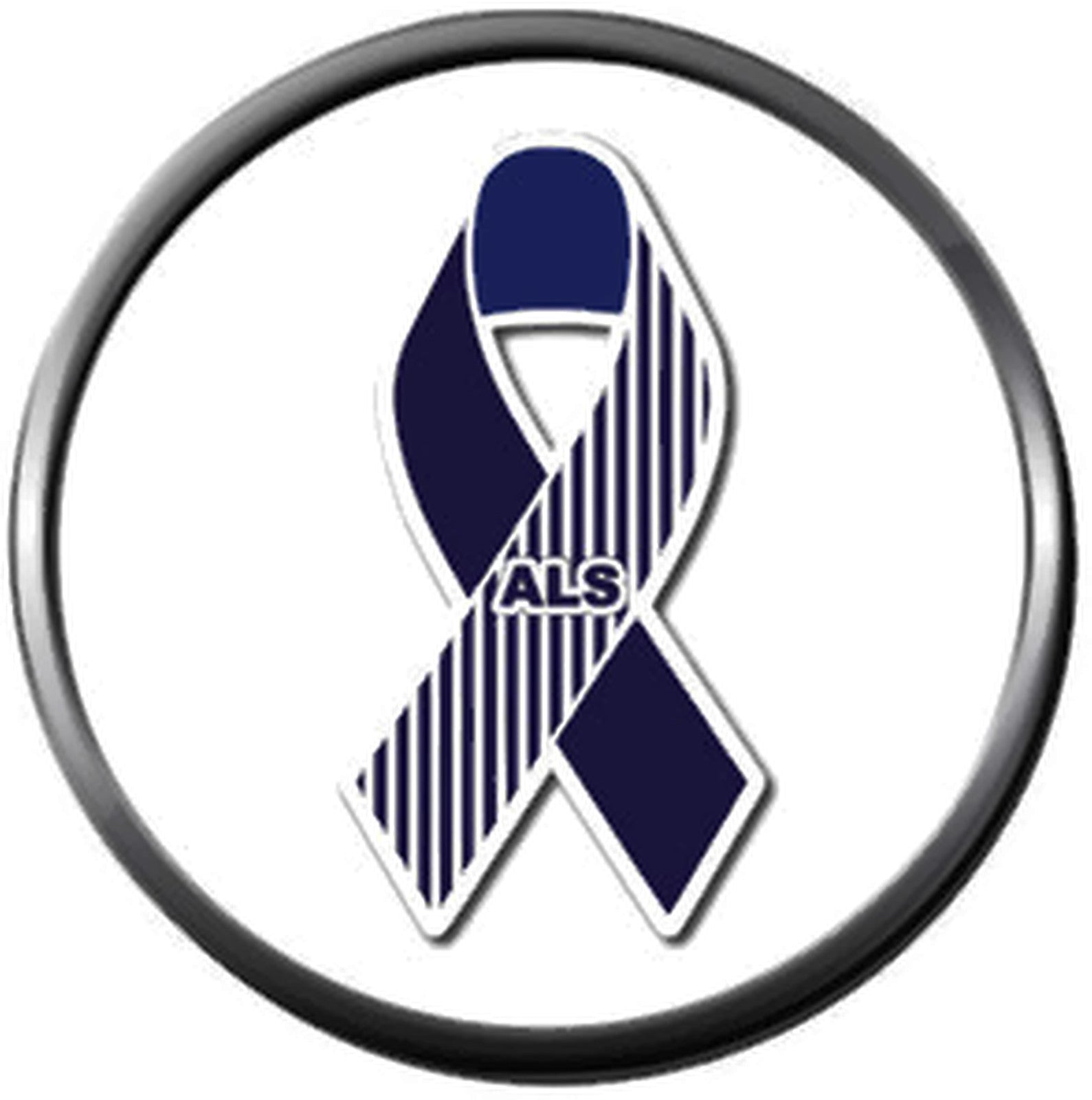Details about Lou Gehrigs Disease ALS Awareness Ribbon Fashion Snap Jewelry  Snap Charm New Ite