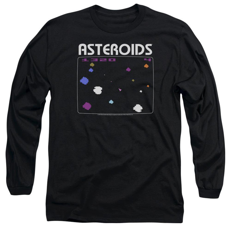 ApparelPop! Long Sleeve Adult 18/1 Atari - Asteroids Screen Long Sleeve Adult 18/1