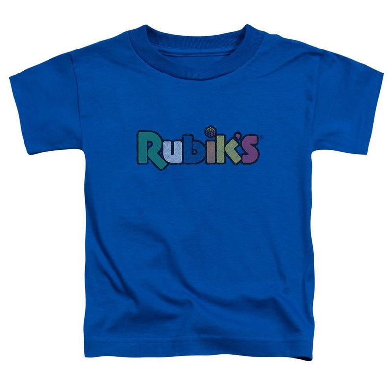 ApparelPop! Short Sleeve Toddler Tee Rubik's Cube - Smudge Logo Short Sleeve Toddler Tee