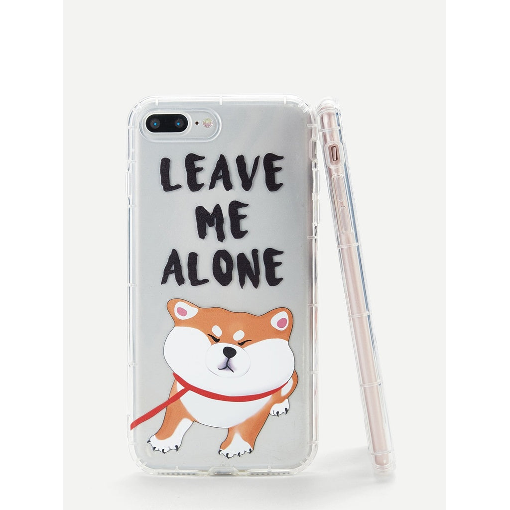 Dog & Letter iPhone Case