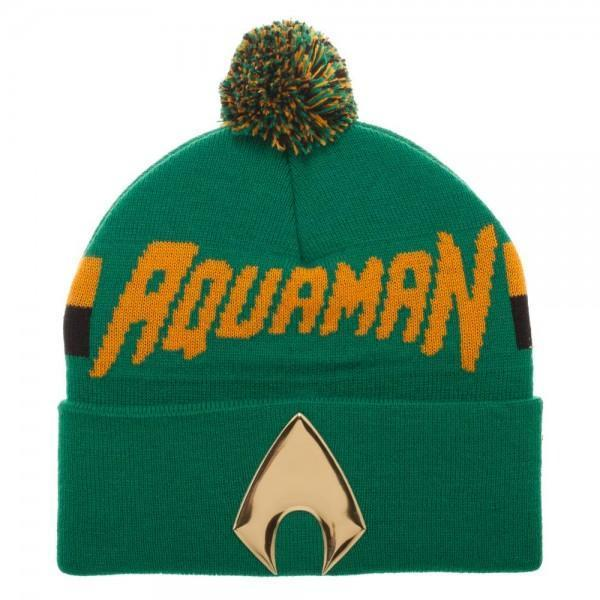 DC Comics Beanie Hat Aquaman Chrome Weld Knit Beanie