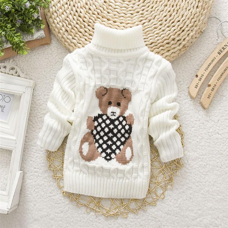 Jubilee Harvest BibiCola  baby sweaters for girls boys kids autumn winter warm cartoon clothing children pullovers bebe turtleneck sweater
