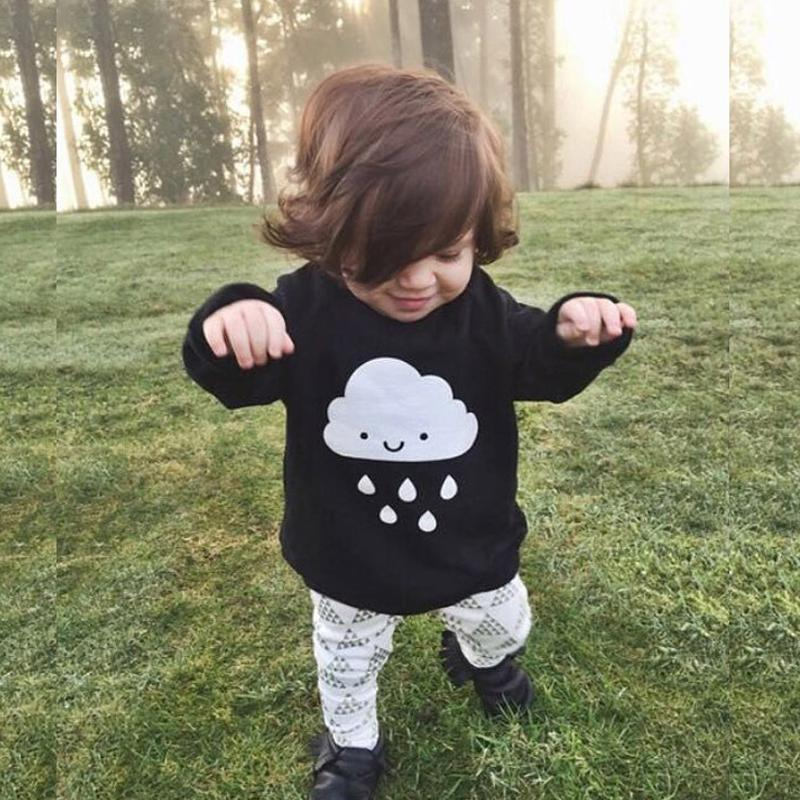 Jubilee Harvest Children Choses 2017 Fashion Baby Boys Girls Knitted Sweaters Clothes Cloud Rain Black Sweaters Fashion Baby Sweaters Clothes