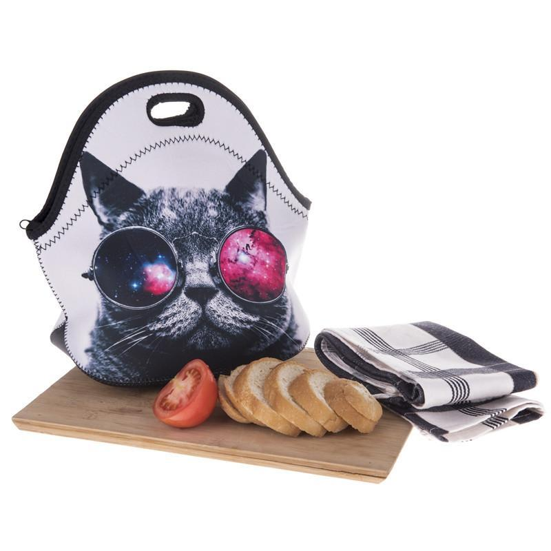 Jubilee Harvest Lunch Bag Space Cat Thermal Insulated 3d Print Lunch Bag