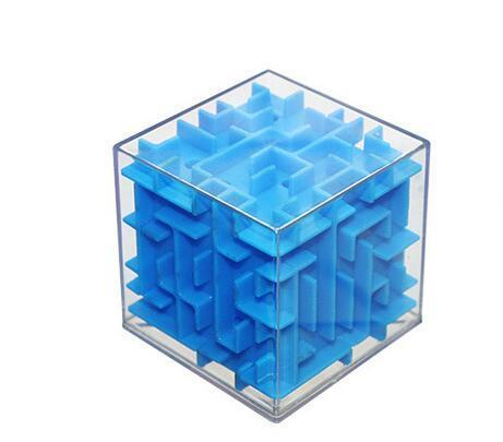 Jubilee Harvest Solid Blue 3D Labyrinth Rolling Puzzle Cube