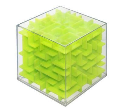 Jubilee Harvest Solid Green 3D Labyrinth Rolling Puzzle Cube