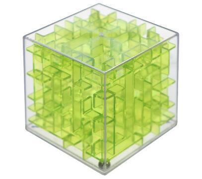 Jubilee Harvest Transparent Green 3D Labyrinth Rolling Puzzle Cube