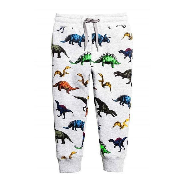 Jubilee Harvest White Dinosaur / 24M Kids Fun Pattern Cotton Pants