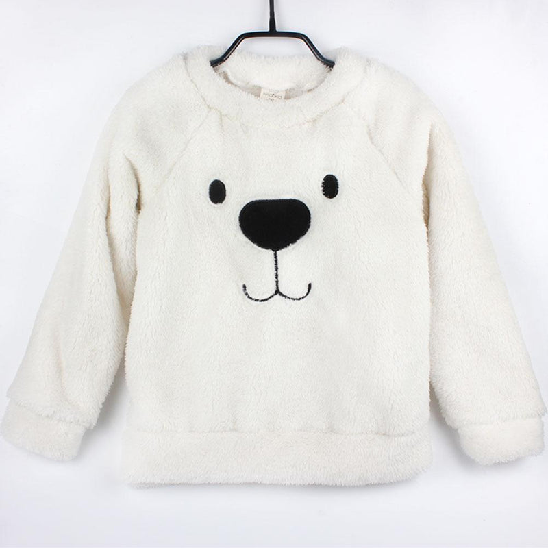 Jubilee Harvest Winter Thick Sweater Coat Cartoon Bear Children Baby Sweaters Clothes Infant Warm Fleece Kid Pullover Blouse Long Sleeve T-shirt