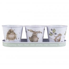 Wrendale Herb Pots And Tray