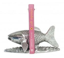 Metal Salmon Book Ends