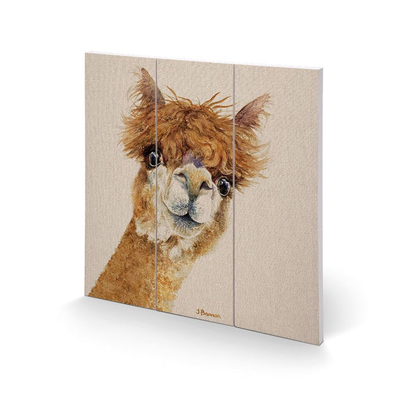 Alf The Alpaca Wooden Wall Art