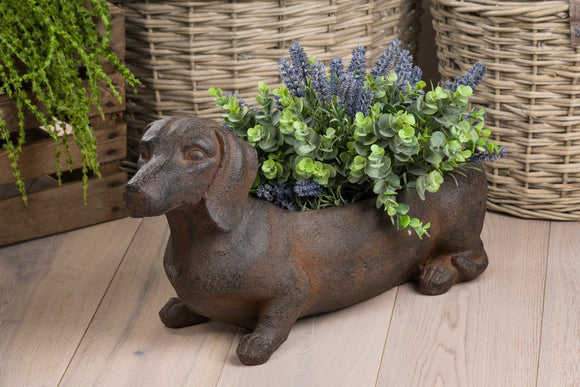 Ernie Sausage Dog Planter