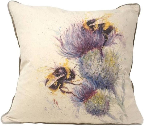 Bees On Thistles Cushion