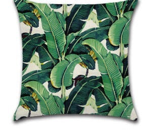 Tropical Banana Leaf Cushion