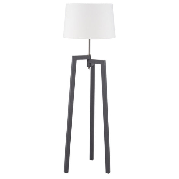Wooden Tripod Floor Lamp And Shade