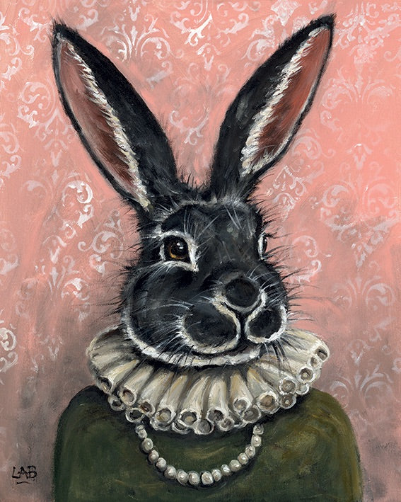 Lady Bunnikins Canvas Picture