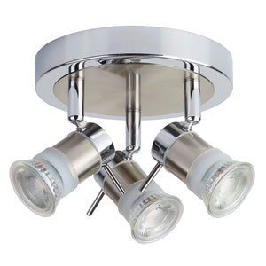 LED 3 Light Bathroom Ceiling Fitting