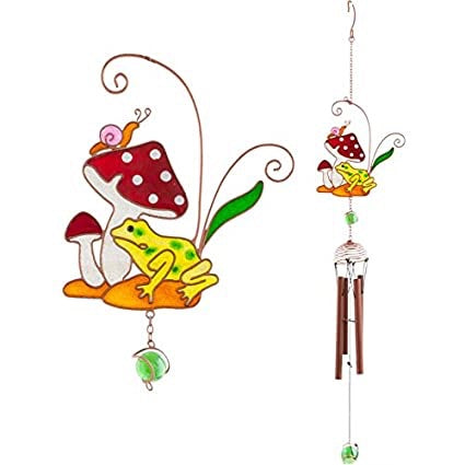 Toadstool  And Frog Windchime