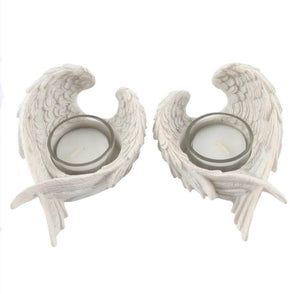 White Angel Wing Tealight Holder