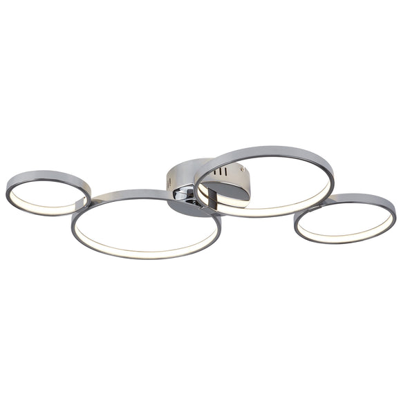 4 Light LED Ceiling Flush Fitting Chrome