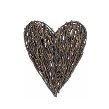 Large Rustic Willow Heart