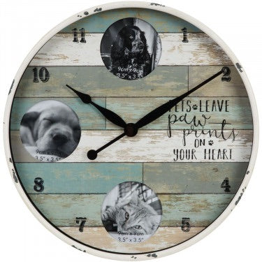 Pet Triple Photo Frame Clock