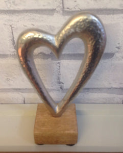 Small Silver Finish Heart