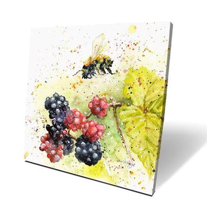 Blackberry Bee Box Canvas Picture