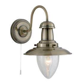 Fisherman Wall Light In Antique Brass