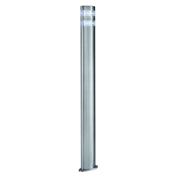 LED Satin Silver Outdoor Post Light