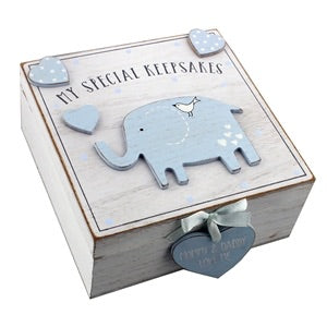 Blue Elephant Special Memory Box