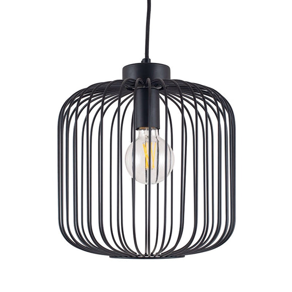 Industrial Cage Pendant Light Fitting