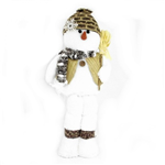 Fabric Snowman With Broom