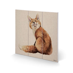 Mr Snooty Fox Wooden Wall Art