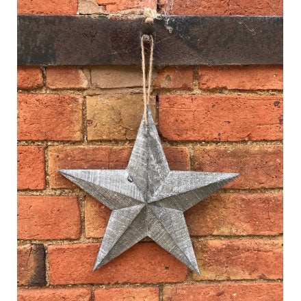 Small Whitewashed Grey Barn Star