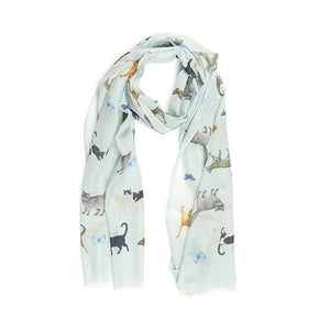 Cats And Butterflies Scarf