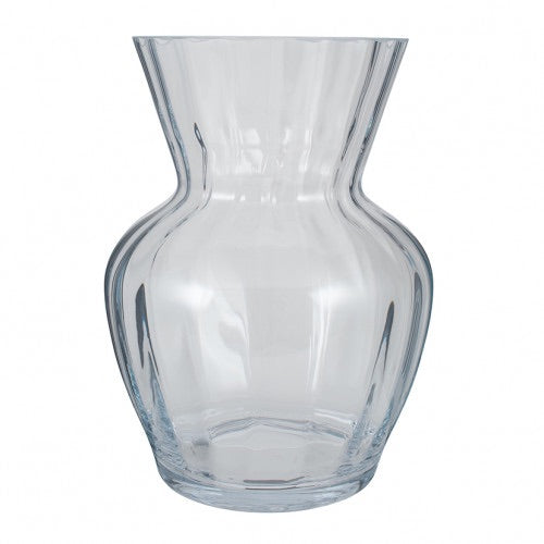 Tara Clear Glass Optic Vase Large