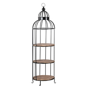 Industrial Shelf Unit Bird Cage Design