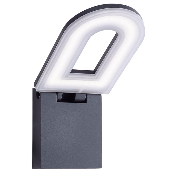 Grey LED Outdoor Wall Light