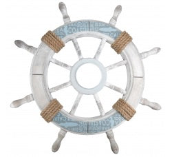 Wooden Hanging Ships Wheel