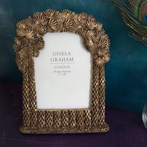 Old Gold Palm Tree Photo Frame