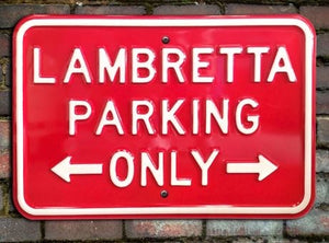 Metal Lambretta Parking Sign