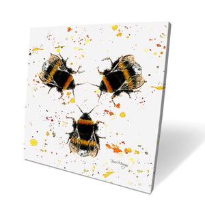 Three Bees Box Canvas Picture